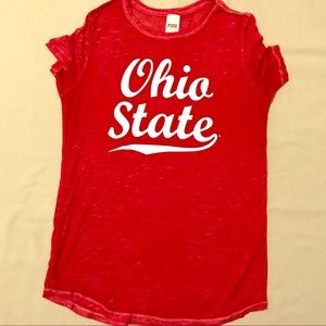 PINK Ohio State Tee Shirt Size Medium